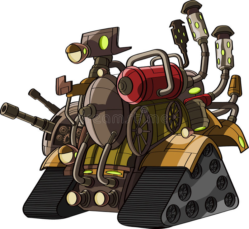 Download Cartoon Tank With Fire Power Stock Illustration - Image: 27001107