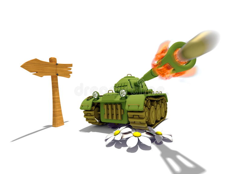 Cartoon Tank royalty free stock image