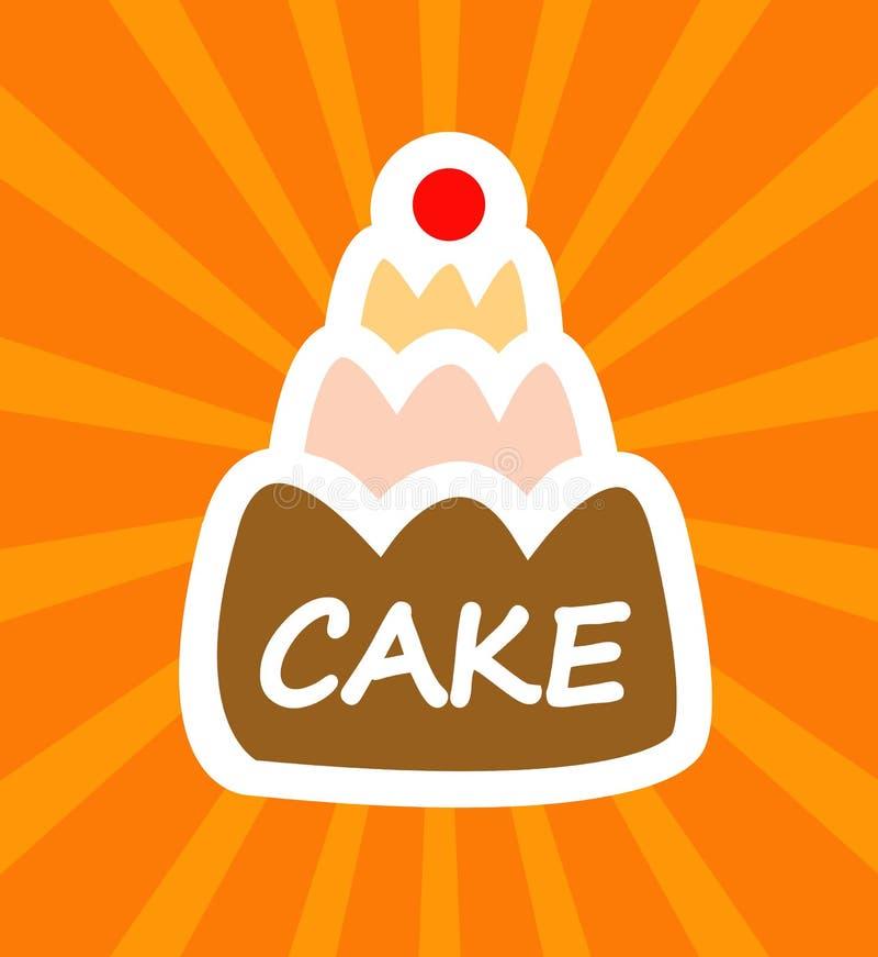 cartoon tasty cake stock vector image of funny celebrate