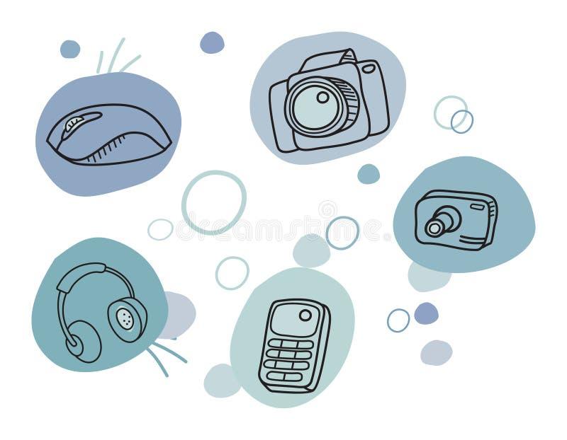 Cartoon technic icons
