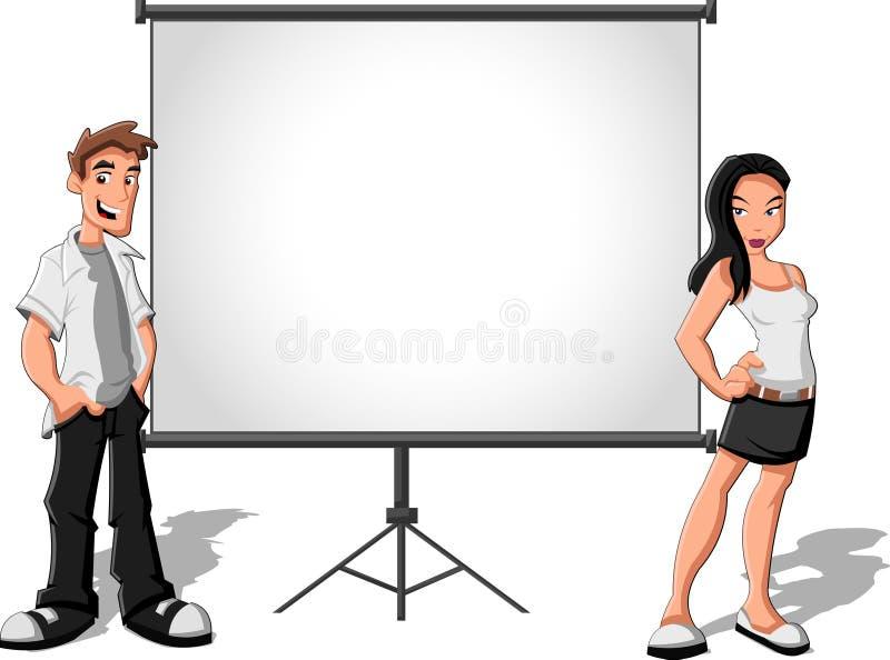 Download Cartoon teenagers stock vector. Illustration of board - 27041436