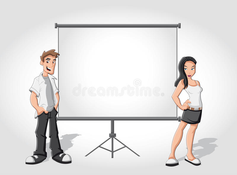 Download Cartoon Teenagers And White Billboard Stock Vector - Image: 22263892