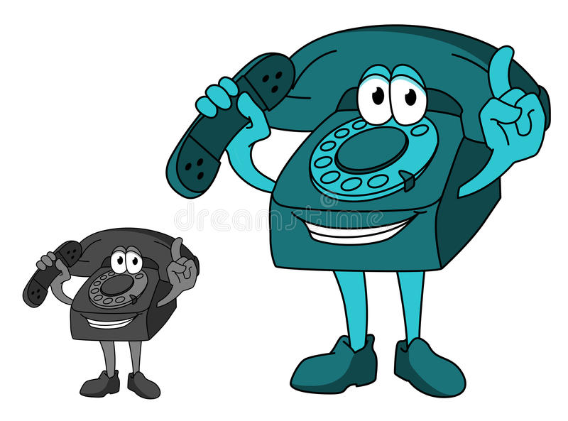 Download Cartoon telephone stock vector. Image of mobile, happy - 32429428