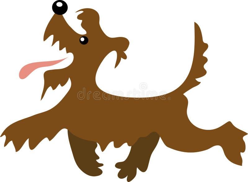 Cartoon terrier walking