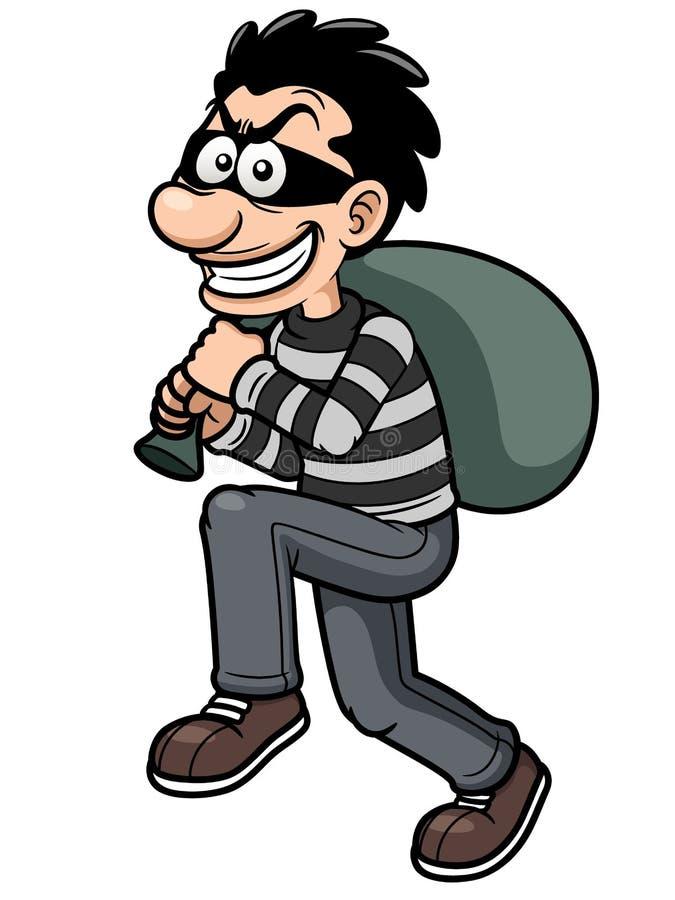 Free Cartoon Thief Royalty Free Stock Photography - 29889117