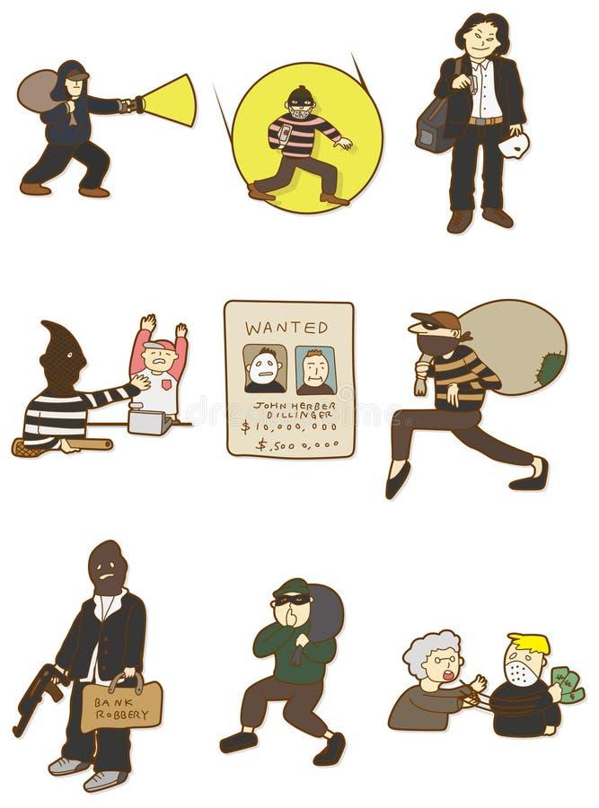 Download Cartoon thief icon stock vector. Illustration of element - 18074918