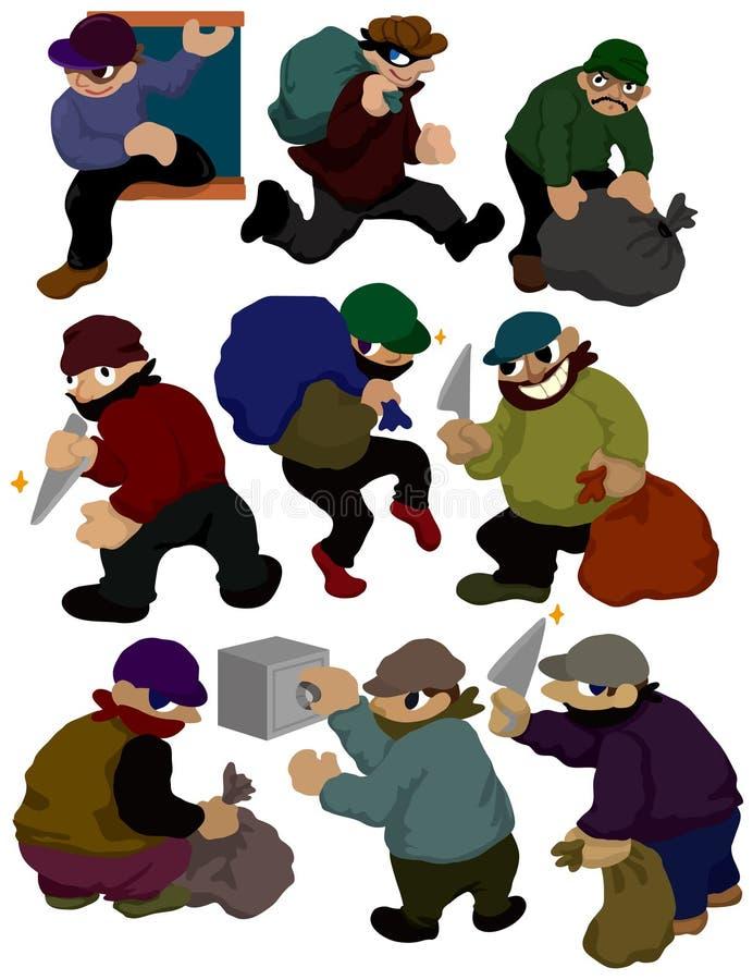 Download Cartoon thief icon stock vector. Image of crime, comic - 18279359