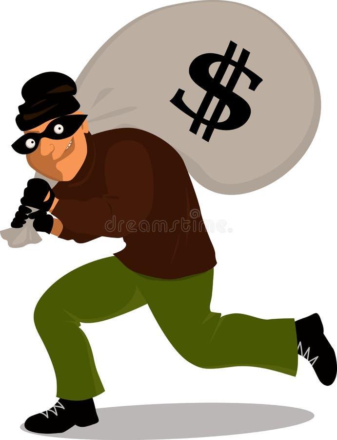 Cartoon thief royalty free illustration