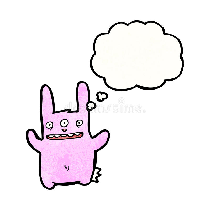 Cartoon Three Eyed Rabbit Stock Image