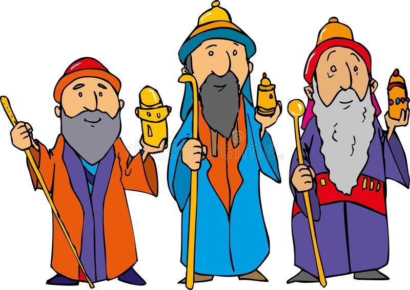 Download Cartoon Of The Three Wise Men Stock Vector - Illustration of celebratory, jesus: 19890321