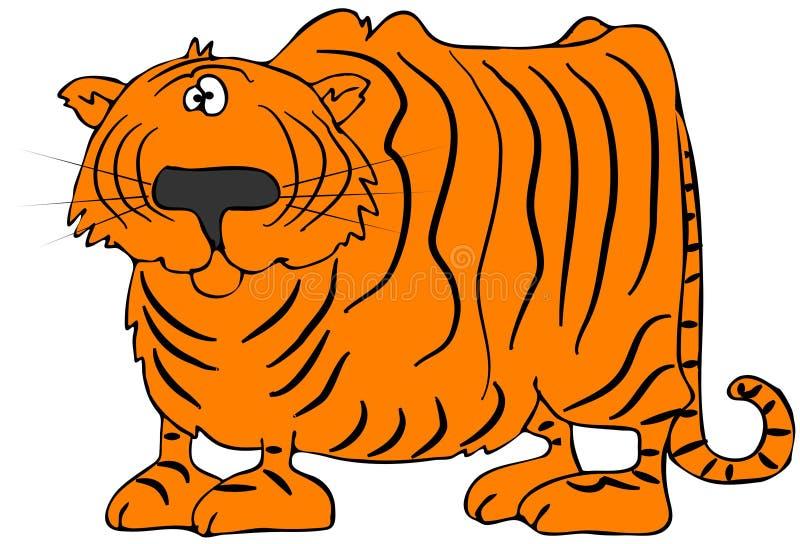 Cartoon Tiger stock illustration