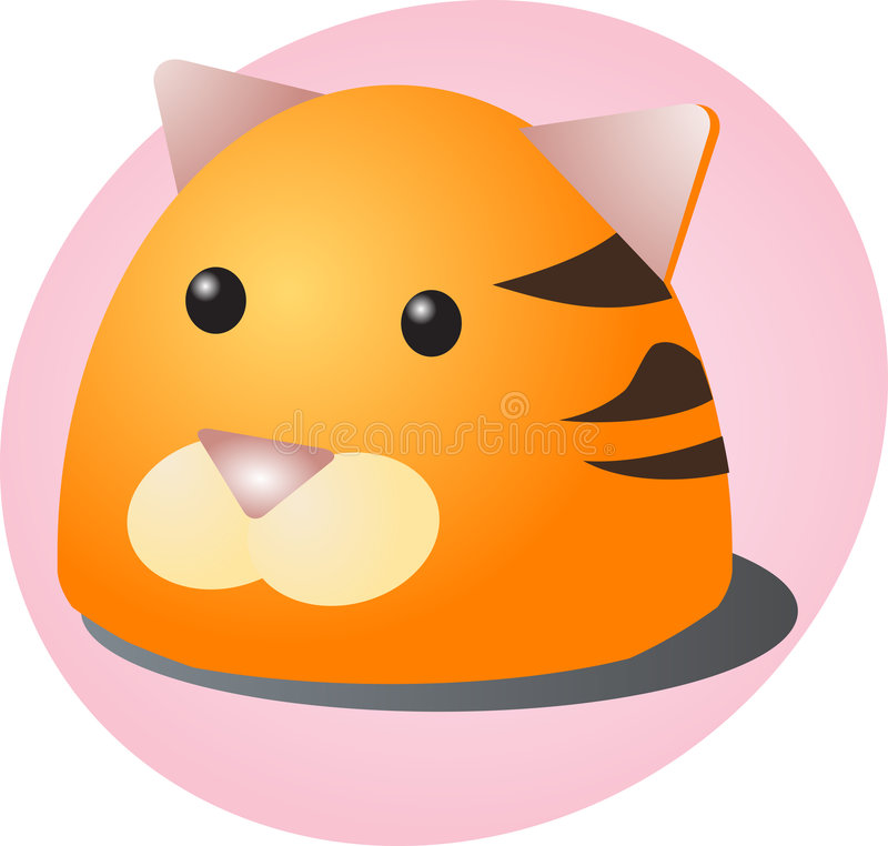 Download Cartoon tiger stock vector. Illustration of cute, head - 6435514