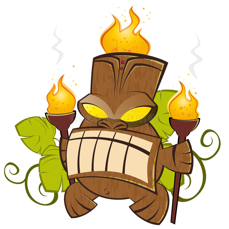 Free Cartoon Tiki Stock Image - 17445821