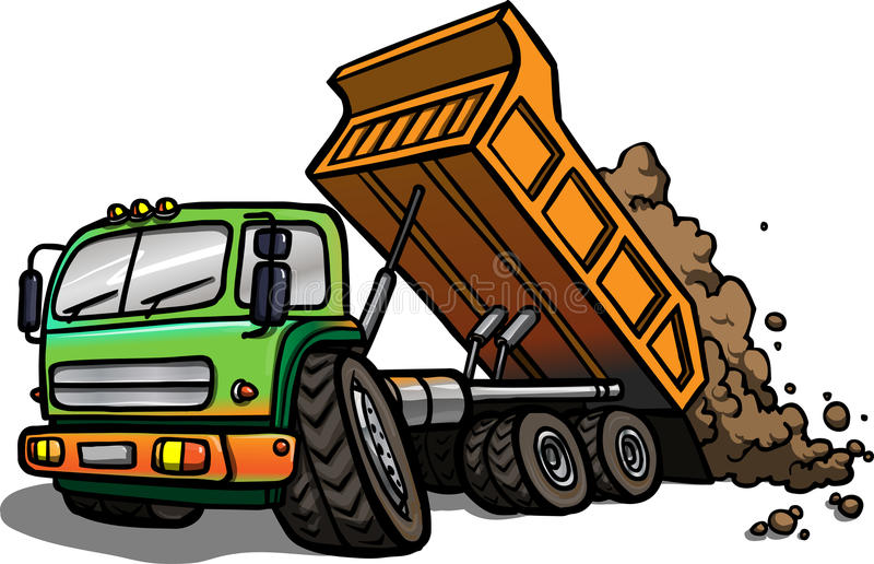 Cartoon Tipper Truck. Isolated royalty free illustration