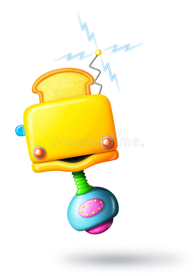 Download Cartoon Toaster Robot stock illustration. Image of bread - 21795627