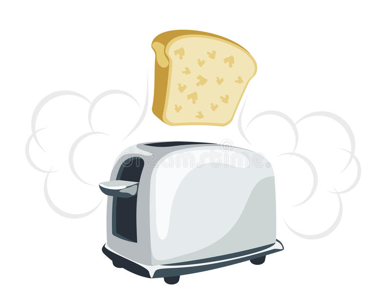 Download Cartoon  Toaster With A Toast Stock Vector - Illustration: 10623729