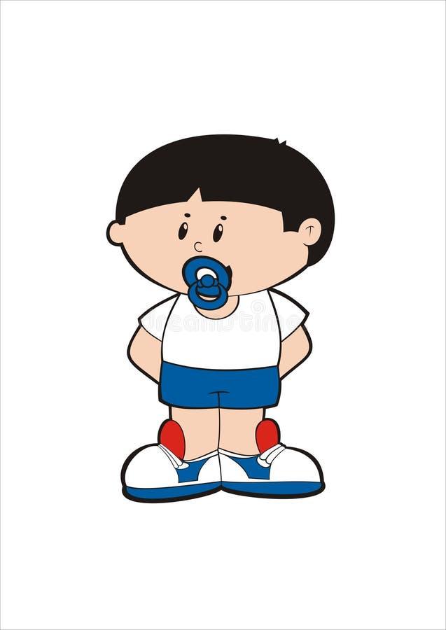 Cartoon of toddler stock photo