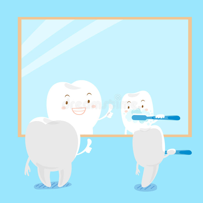 Cartoon tooth brush stock illustration
