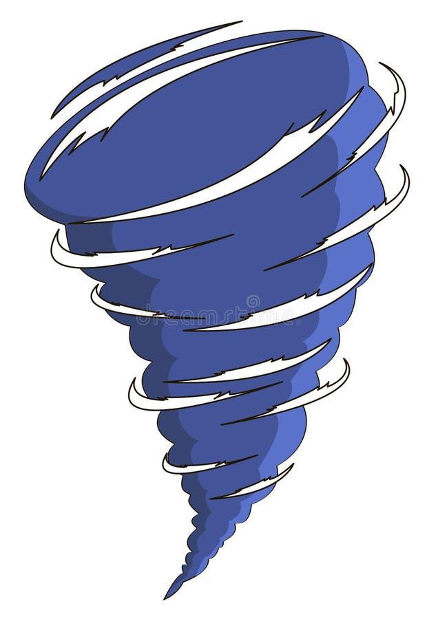 Cartoon tornado royalty free illustration
