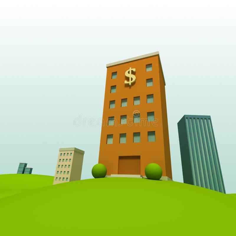 Download Cartoon town stock illustration. Illustration of office - 20382808