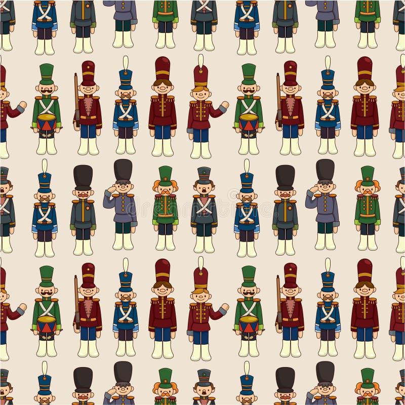 Cartoon Toy soldier seamless pattern vector illustration