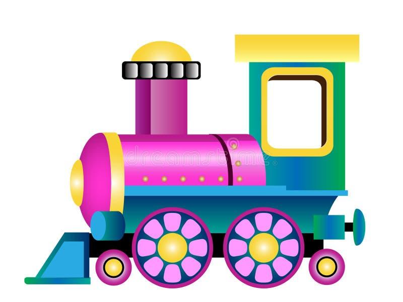Cartoon Toy Train Engine royalty free illustration
