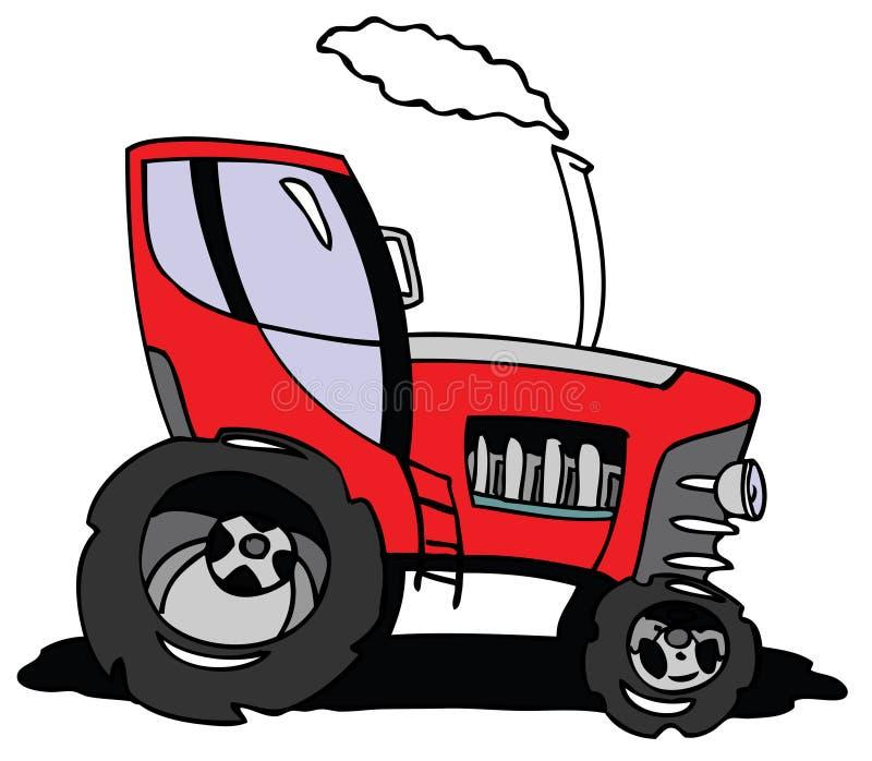 Cartoon tractor. Hand drawn cartoon nice tractor vector illustration