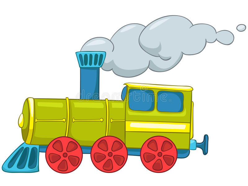 Cartoon Train stock illustration
