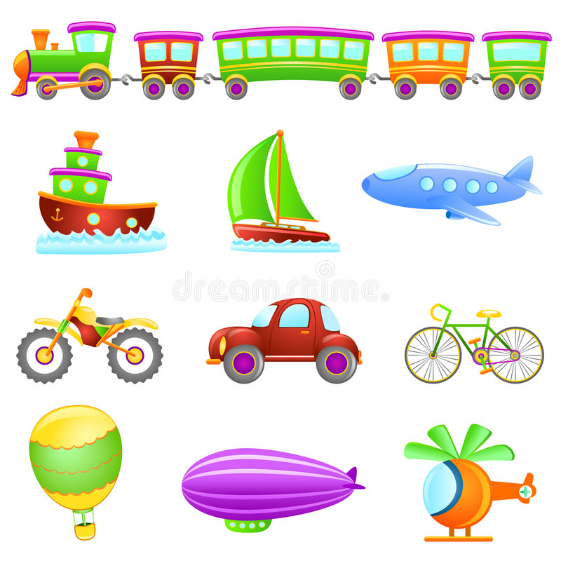 cartoon transportation vector royaltyfri illustrationer