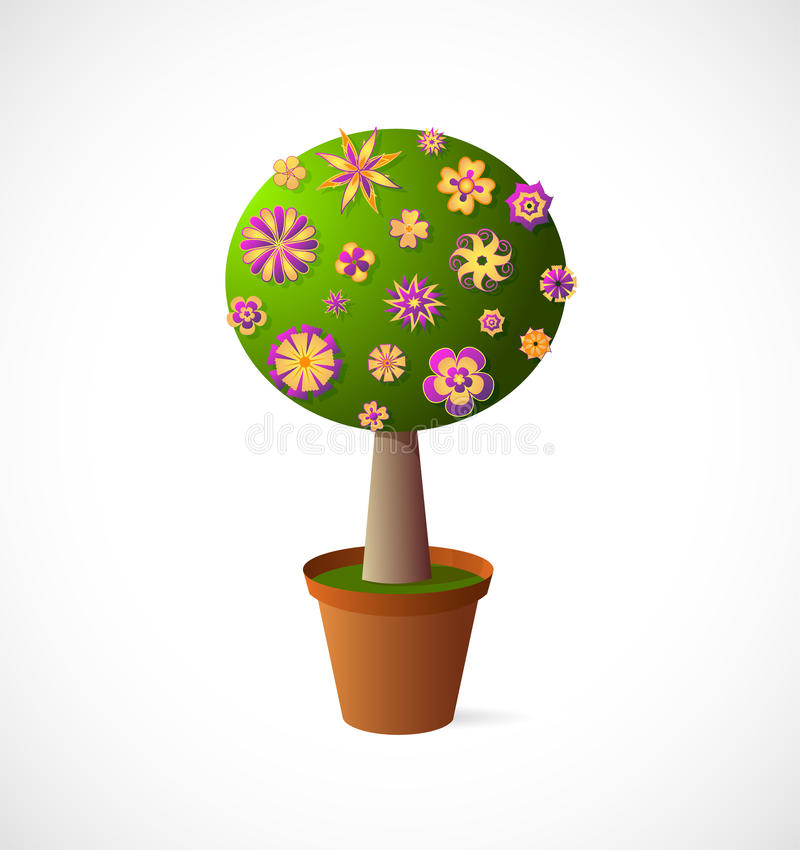 Download Cartoon tree stock illustration. Image of art, symbol - 34771372