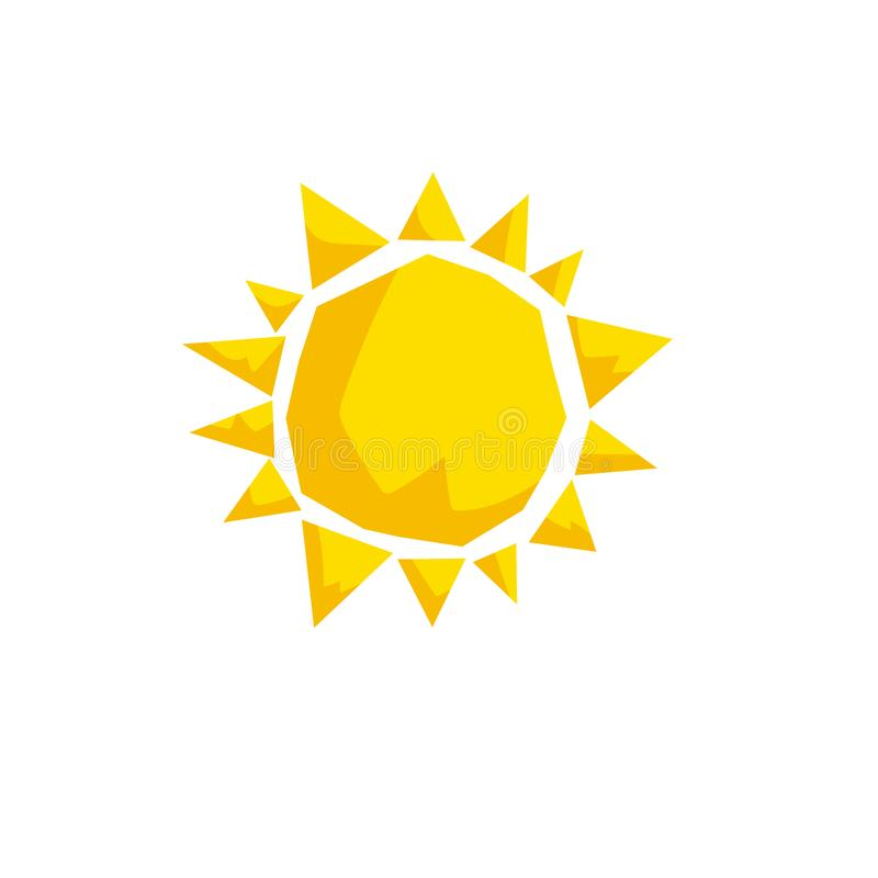 Cartoon Trendy Design Sun Icon. Summer And Weather Vector Stock ...