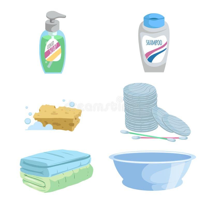 Free Cartoon Trendy Simple Gradient Bath Icon Set. Royalty Free Stock Images - 101086269