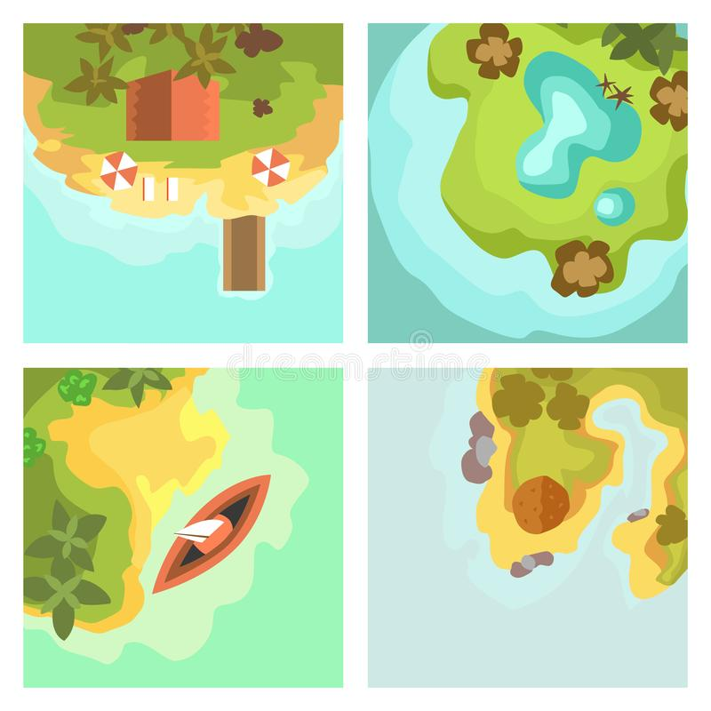 Tropical Lagoon Clip Art