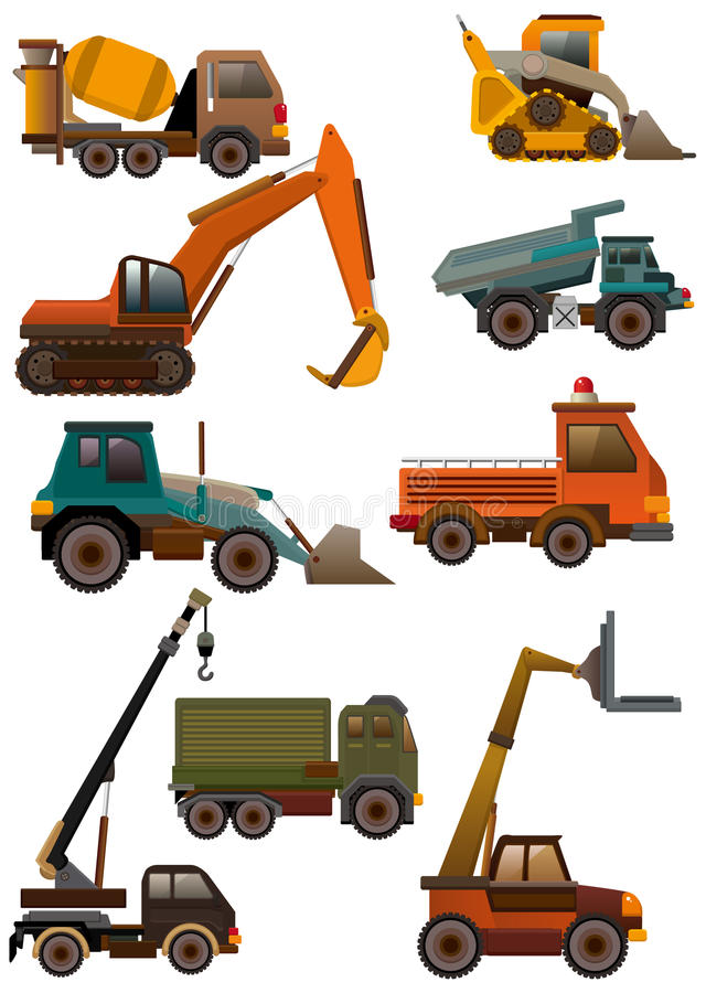 Download Cartoon truck icon stock vector. Image of adorable, isolated - 18230002