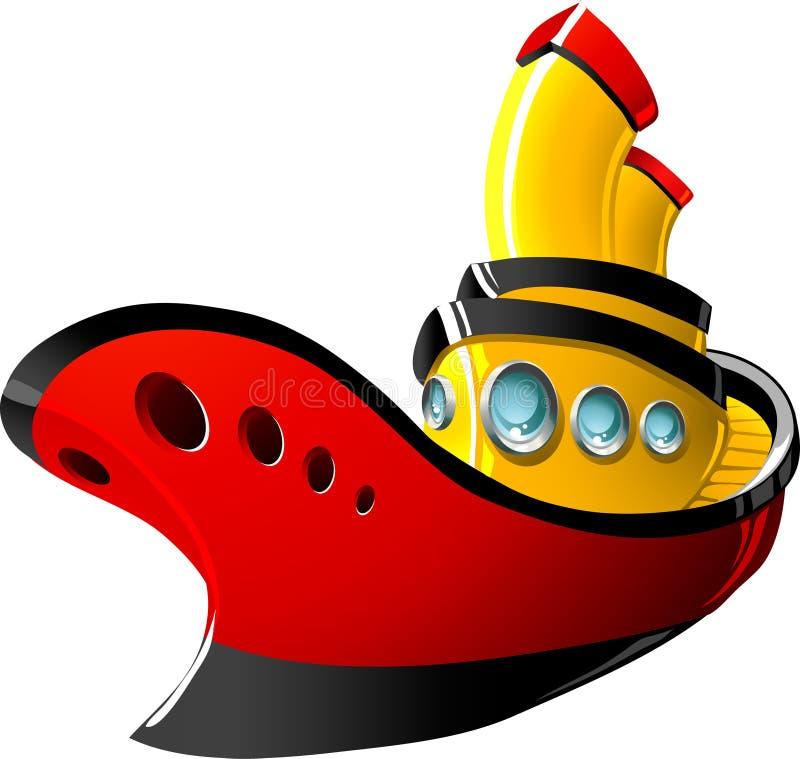Free Cartoon Tugboat Royalty Free Stock Photo - 16366065