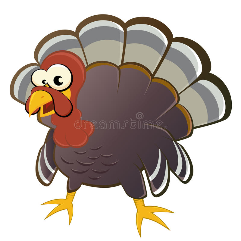 Download Cartoon turkey stock vector. Image of animal, caricature - 19617495