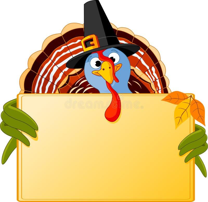 Download Cartoon Turkey Banner stock vector. Image of animal, bird - 21966048
