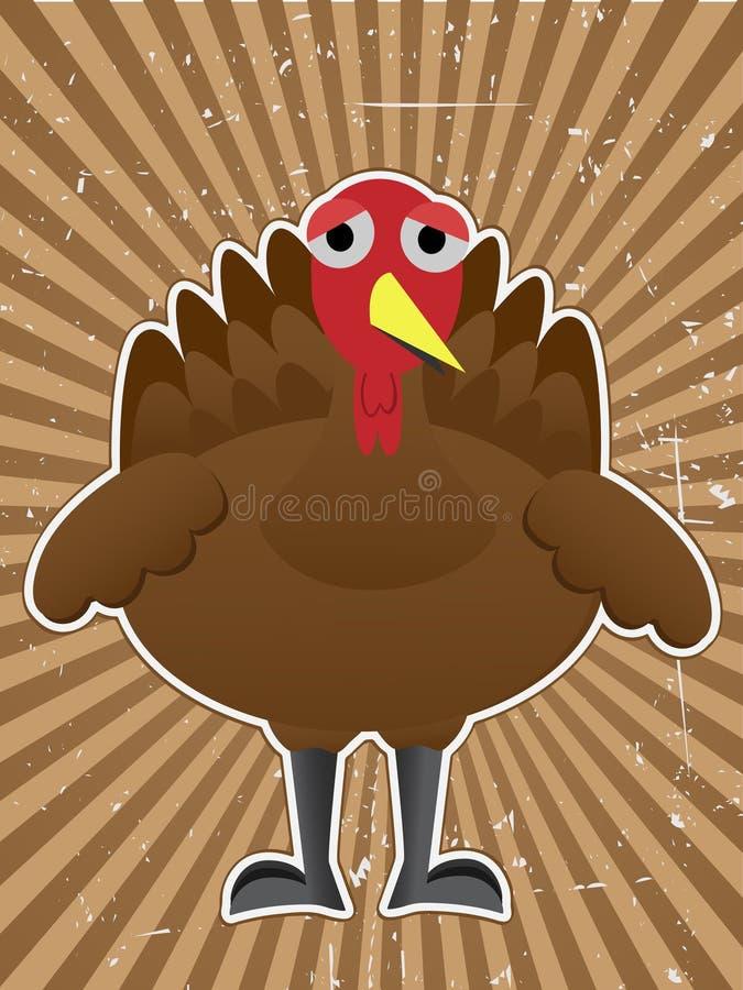 Cartoon Turkey Bird Outline grungy raybeam
