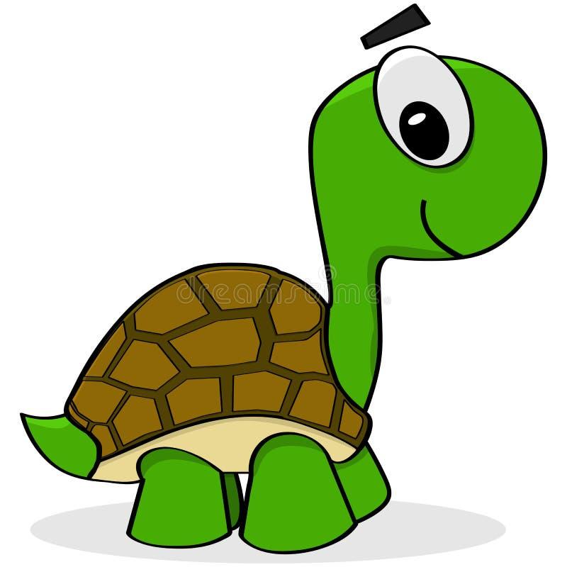 Cartoon turtle royalty free illustration