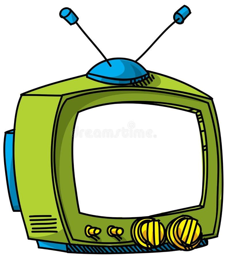 Cartoon TV. A cartoon TV with blank screen stock illustration
