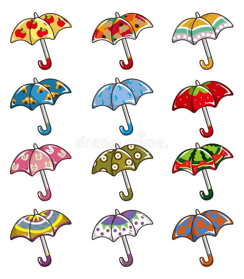 Download Cartoon Umbrellas icon stock illustration. Image of cheerful - 17883886