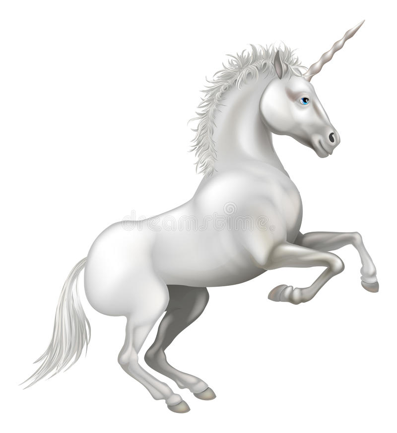 Cartoon Unicorn stock illustration