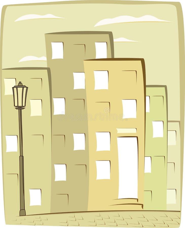 Cartoon urban background stock illustration