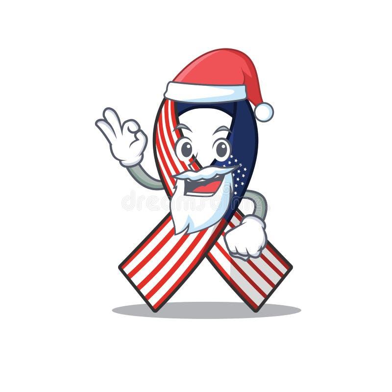 Cartoon usa ruban avec en caractère santa claus illustration stock