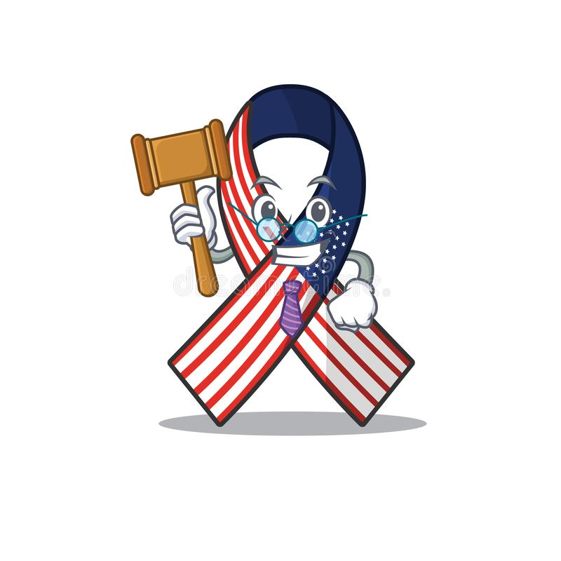 Cartoon usure ruban avec juge de caractère illustration stock