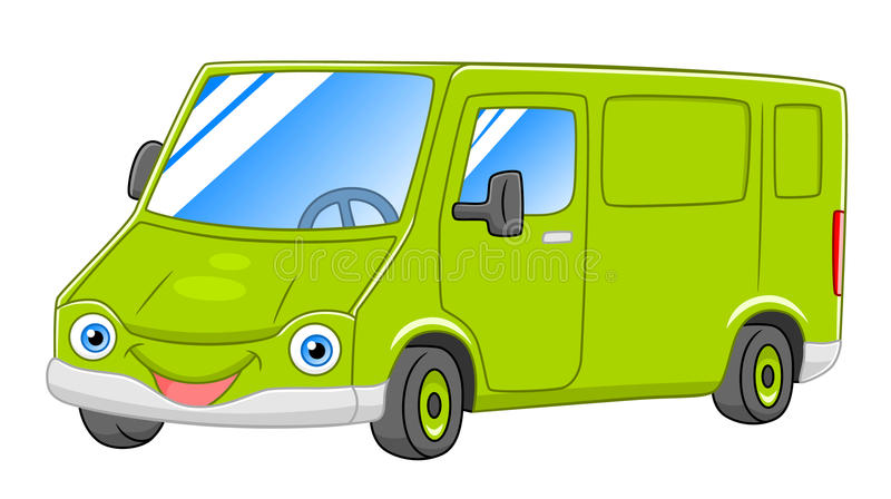 Cartoon van stock vector. Illustration of freight, auto - 81904272
