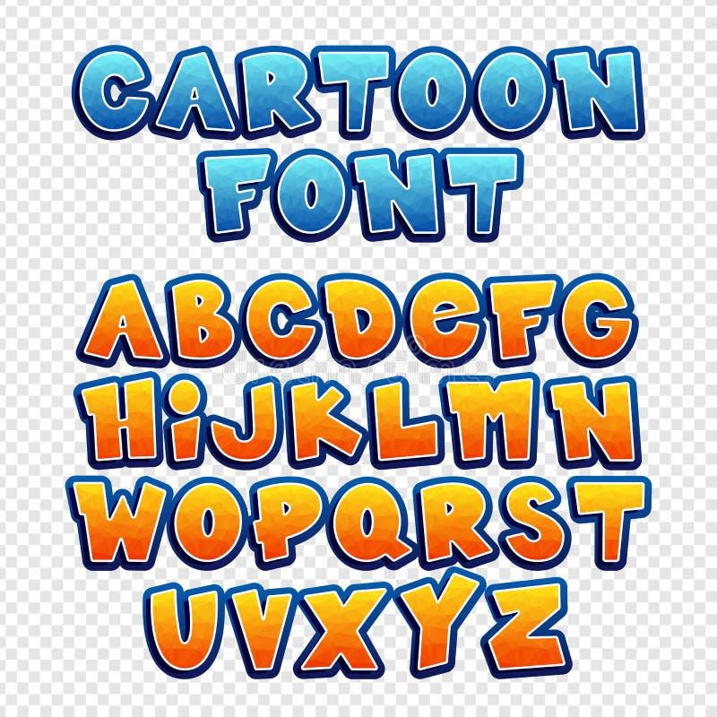Cartoon vector font. royalty free illustration
