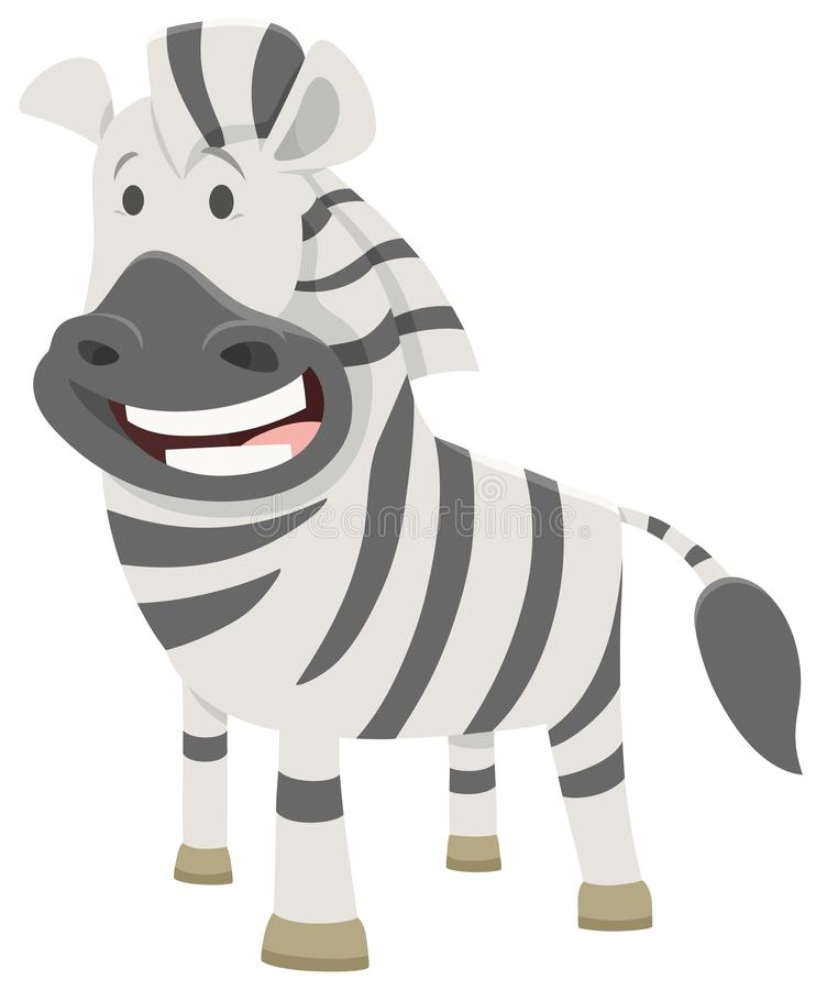 African zebra cartoon animal character stock illustration