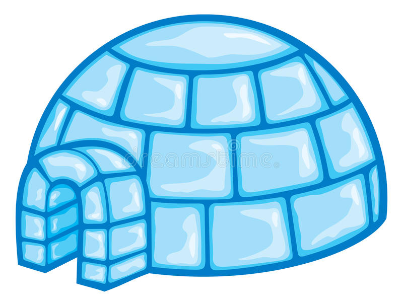Illustration of a igloo stock illustration