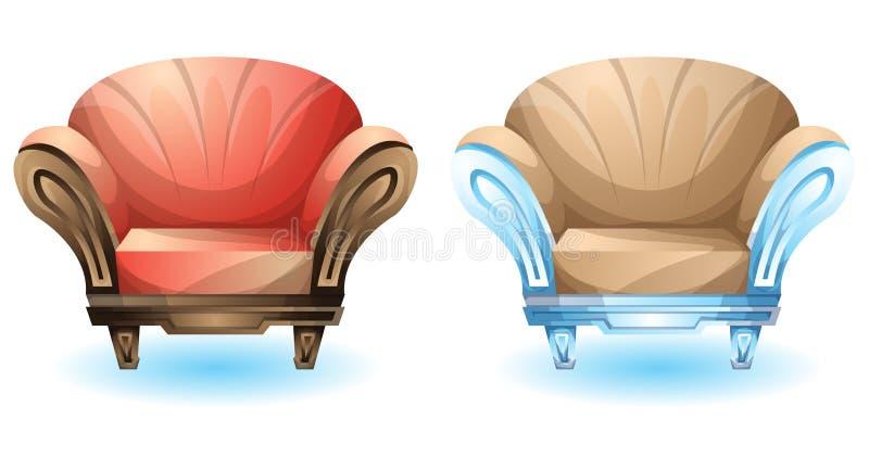 Cartoon vector illustration interior boutique chair royalty free illustration